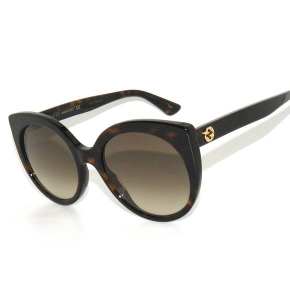 4964d3b229e7 Gucci 0325s 002 Havana Brown Gold Sunglasses